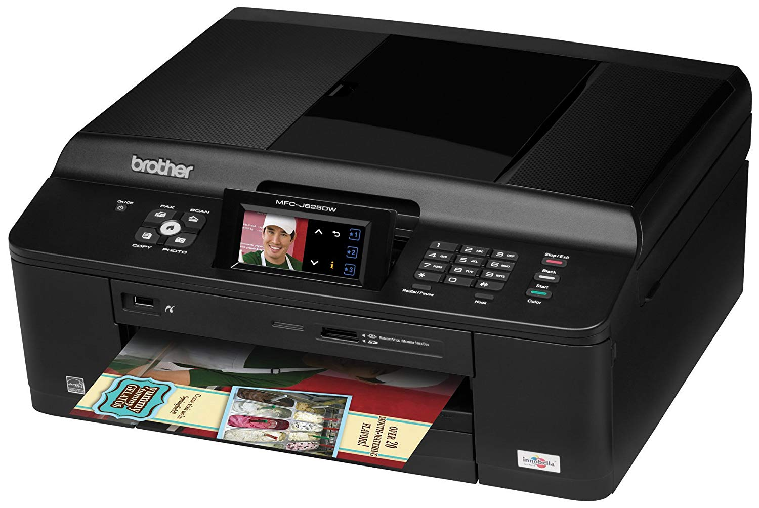 Brother Inkjet MFCJ625DW printer driver for PC and Mac